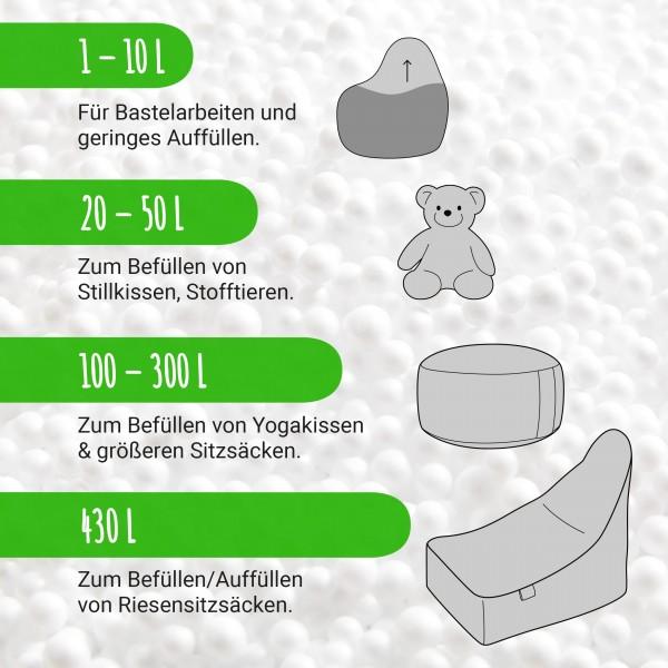 EPS Perlen - 1 bis 430 Liter